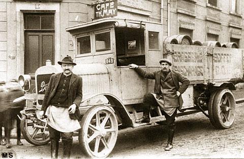 BERLIET-CBA-levering-van-Bofferdang-bier-in-1915