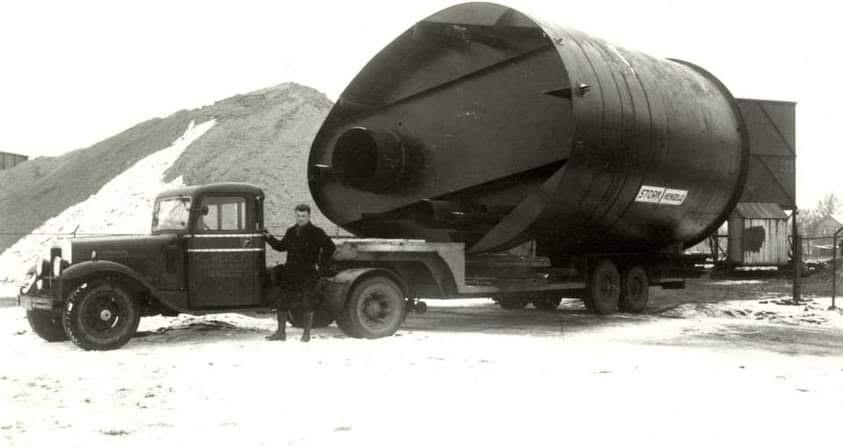 Wezel-transport-met-schoorsteen--onderdeel-voor-Stork