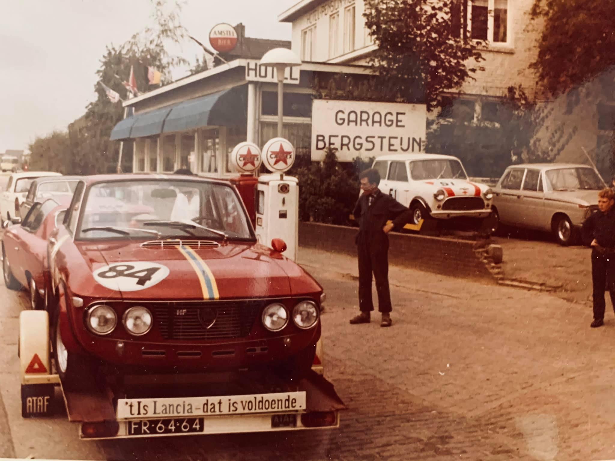 Caltex-tankstation-voor-mijn-huidig-woonhuis-in-1968-vader-staat-klaar-voor-vertrek-voor-de-start-van-de-24-uren-van-Francorchamps--Met-hun-Lancia-Fulvia-HF-1300-(7)