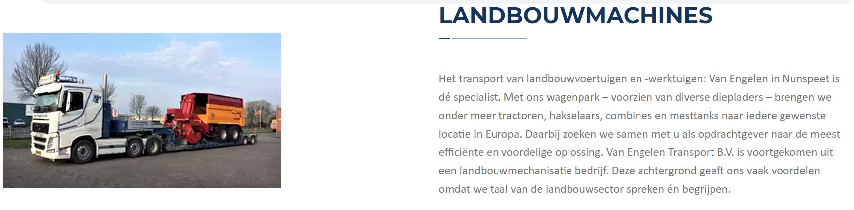 Landbouwmachines-transport-