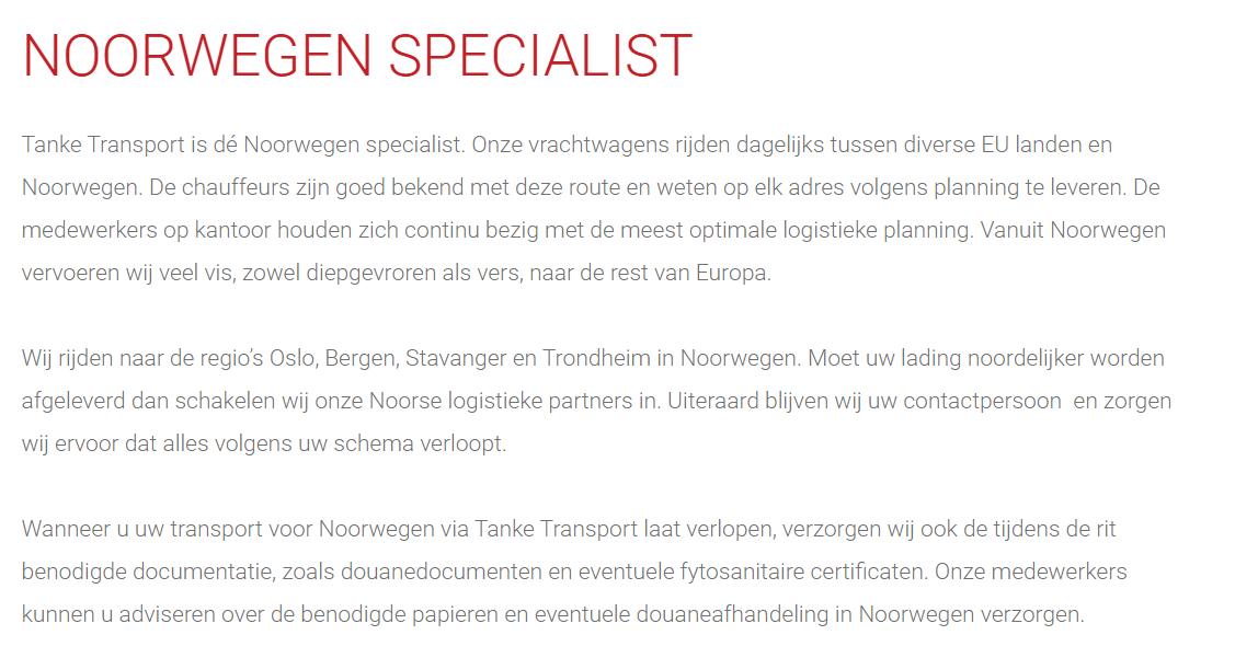 Noorwegen-Specialist