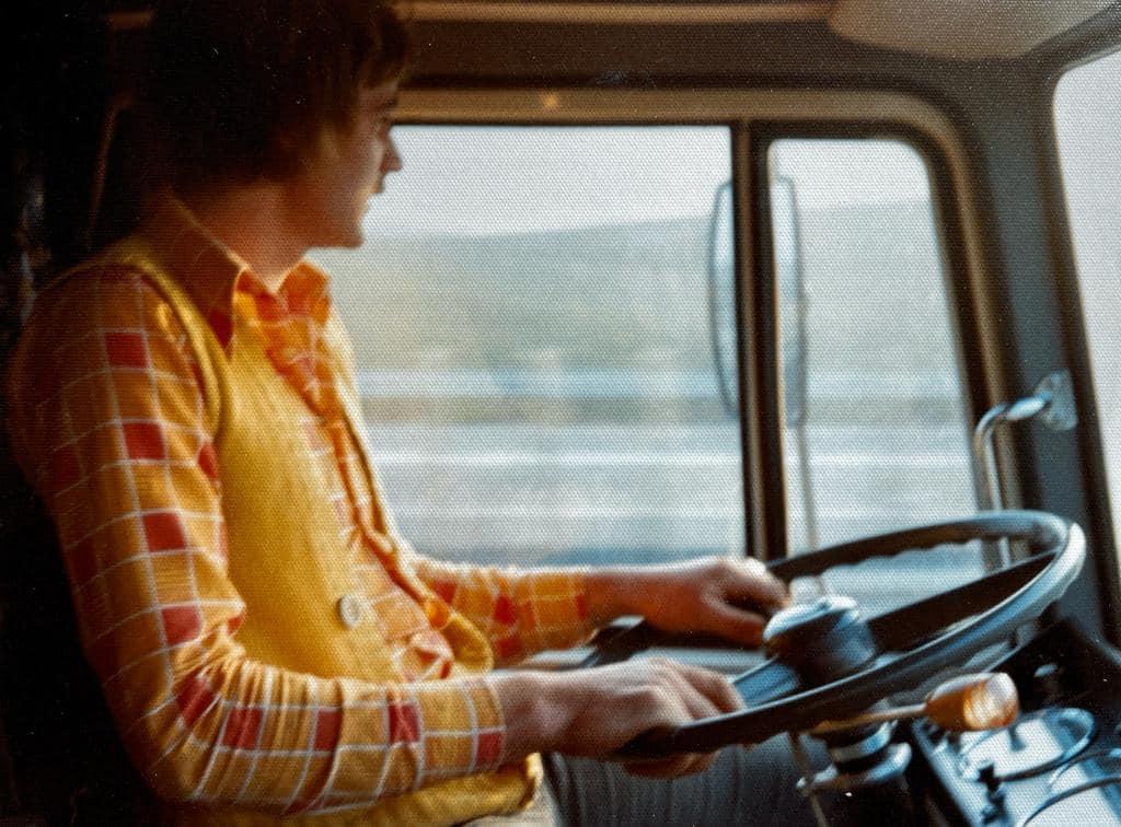 Hugo-Biesheuvel-met-de-Scania--van-Cor-Winkelman-1973-spoedrit--zuid-Duitsland