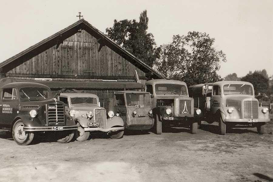 1953-Ravensburg-Kohlenhandel-und-Brennstoffe-Wilhelm-Schindele-Fuhrpark