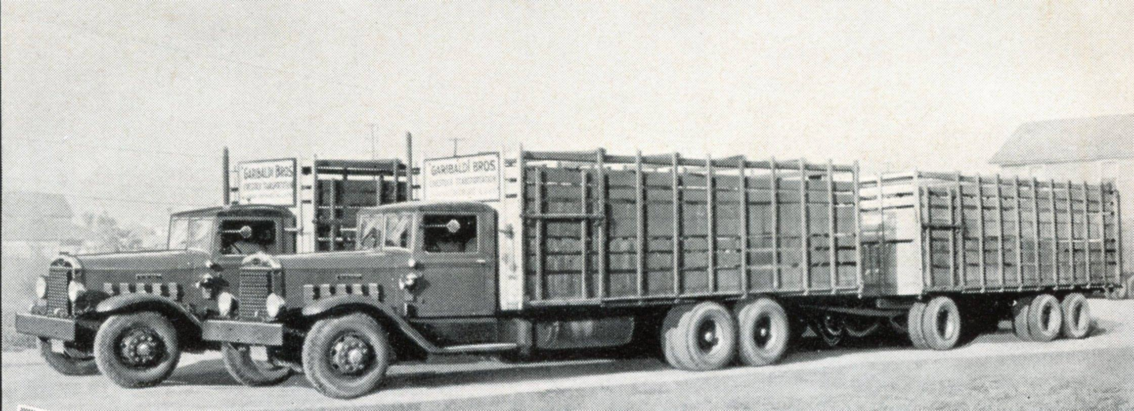 1936-or-1937-Autocar-Diesel-livestock-haulers-in-Southern-California