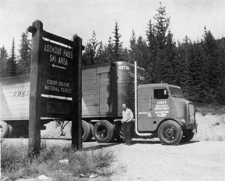Consolidated-Freightways-line-haul-driver-taking-a-quick-break-at-Lookout-Pass-Ski-Area