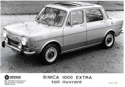 Simca-1000-extra--Maart-1976-eerste-auto-in-europa-in-beperkte-reeks--2-opties-beschikbaar-ofwel-het-schuifdak-ofwel-een-autoradio--2-motoren-beschikbaar-een-944-cm3--52-pk--5-pk.-Of-een-1118-cc-56-pk--6-pk--w-1