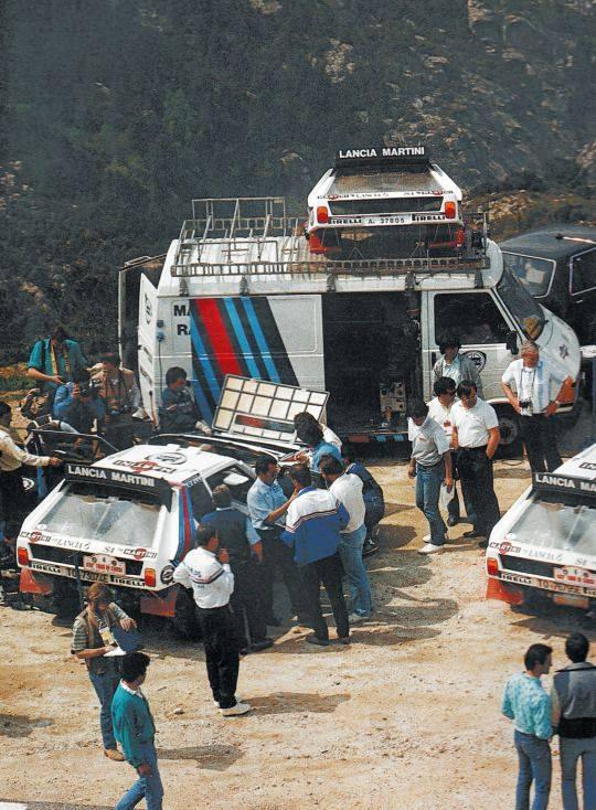 Lancia-rally-wagens