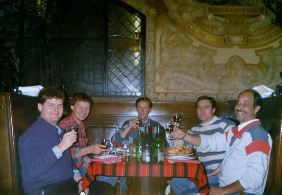 Budapest-1986--a-nightout-with-fellow-Weys-drivers