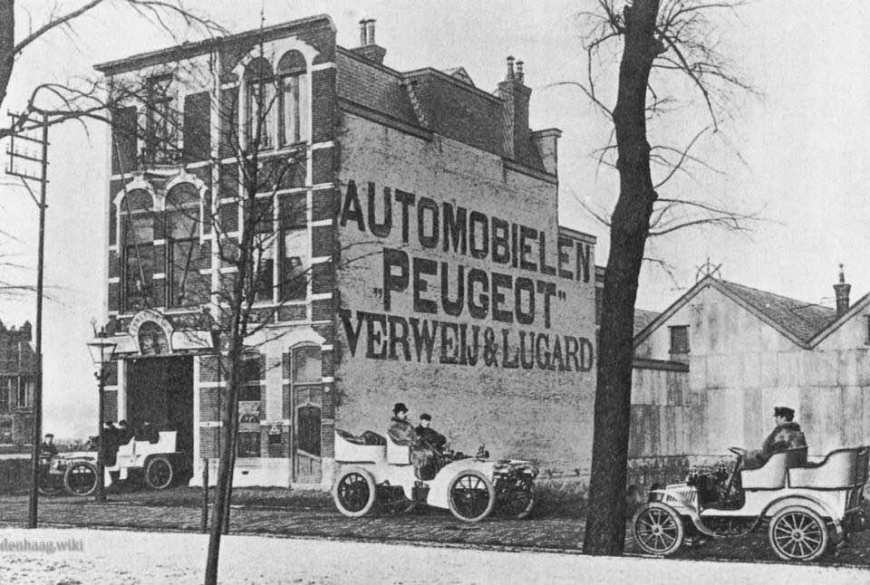 Peugeot-dealer-in-1904-aan-de-Laan-van-Nieuw-Oostindie-Den-Haag