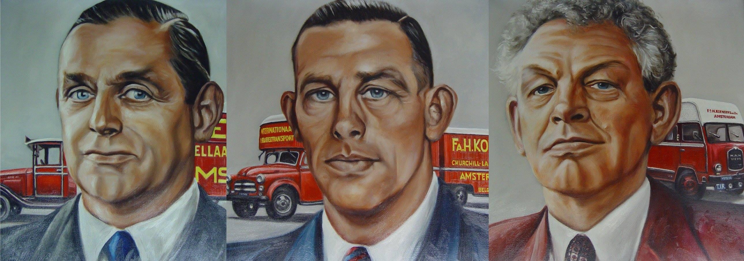 Drie-portretten-van--oud-directieleden-ter-gelegenheid-van-het-75-jaar-bestaan-van-de-zaak