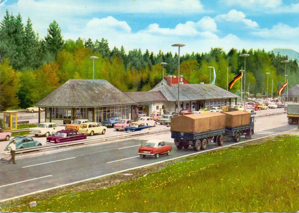 Grenze--Schwarzbach--Autobahn-Munchen