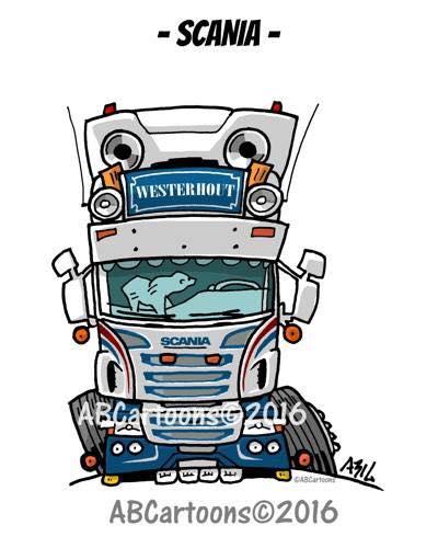 Scania-Cartoons