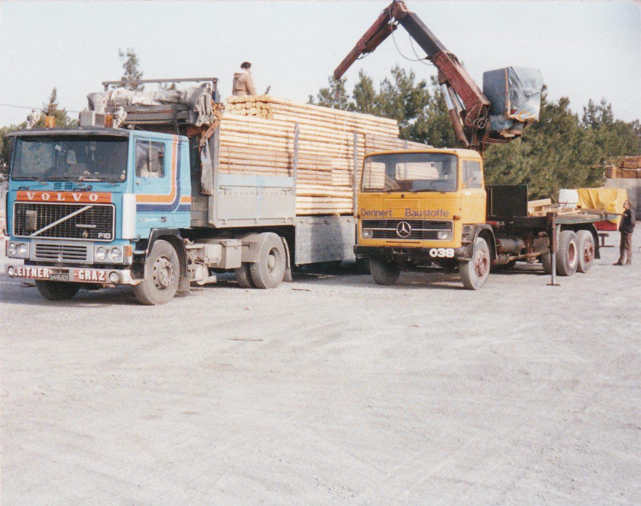 volvo--Anfang-der-90ger---Holz-nach-Griechenland