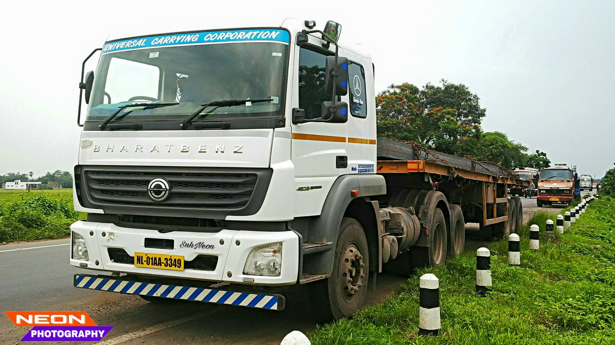 Bharatbenz-4928-prime-mover-CHAMPADANGA-DANKUNI-ROAD--HOOGHLY--WEST-BENGAL--INDIA
