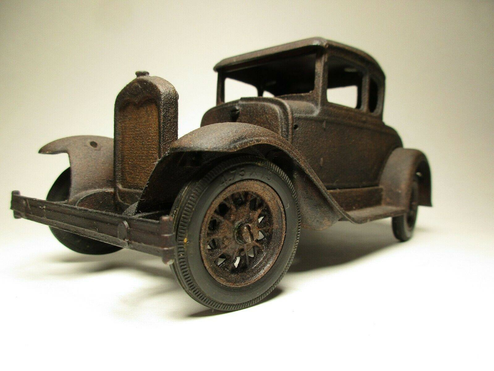 Vintage-Hubley-1932-Ford-Model-A-Coupe-and-Engine---Rusty-Weathered-Barn-Find-2