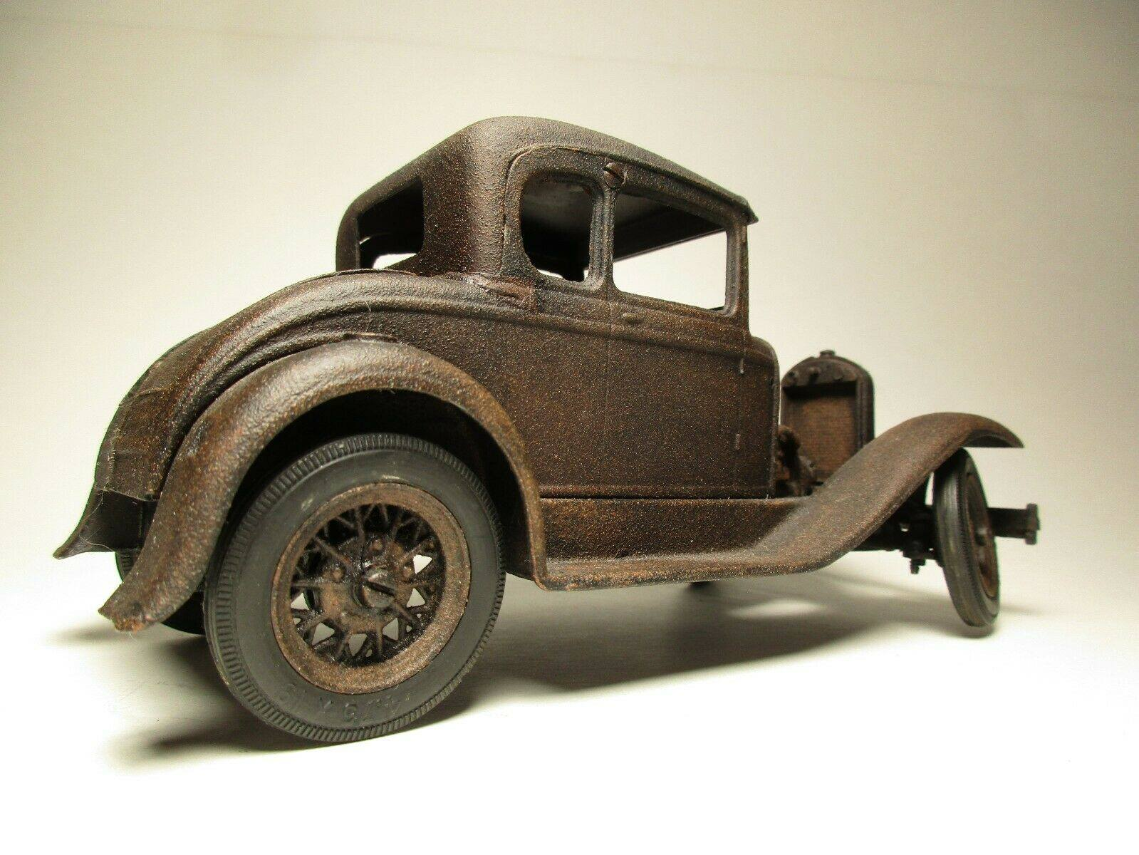Vintage-Hubley-1932-Ford-Model-A-Coupe-and-Engine---Rusty-Weathered-Barn-Find-3