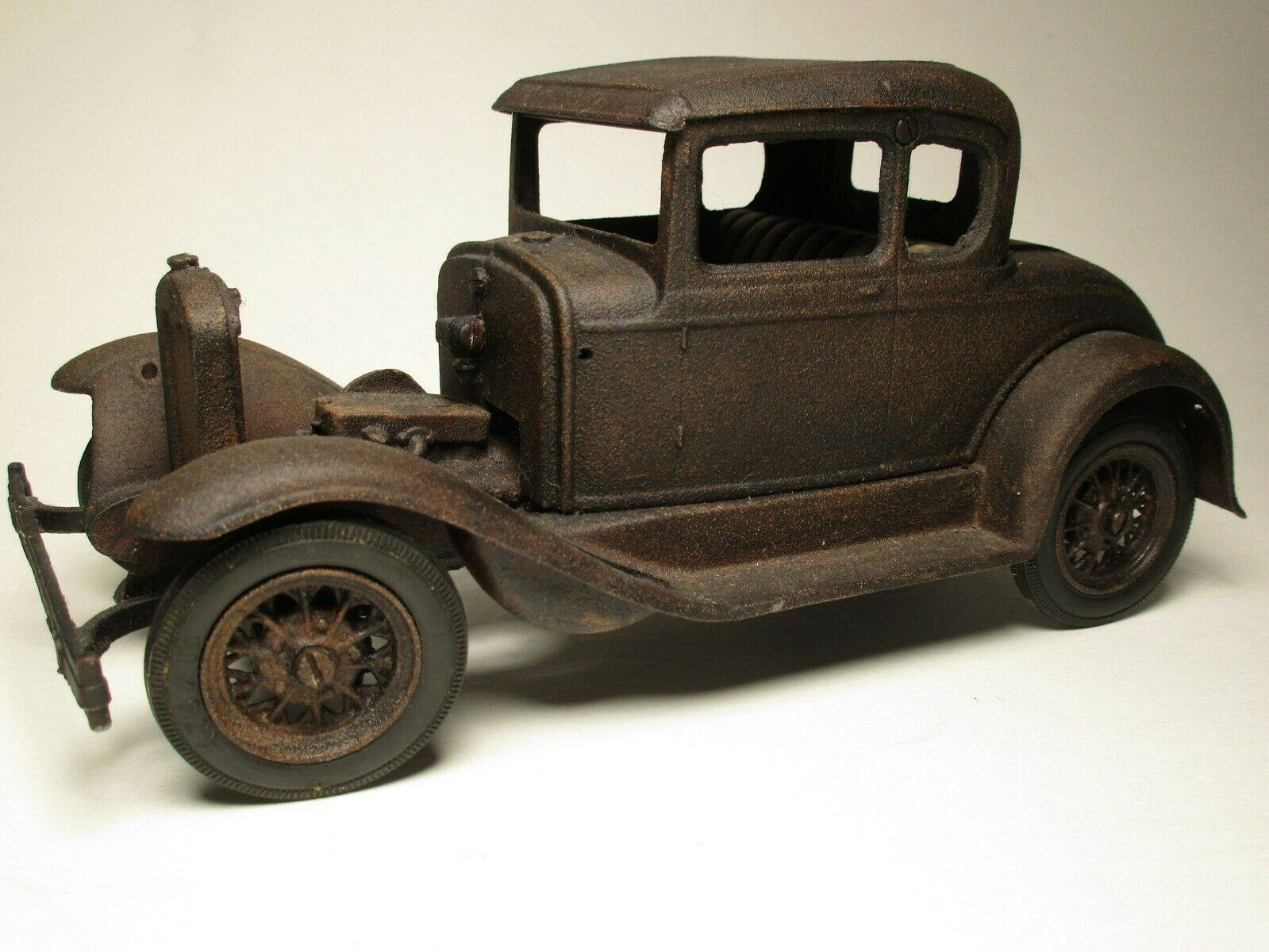Vintage-Hubley-1932-Ford-Model-A-Coupe-and-Engine---Rusty-Weathered-Barn-Find-6