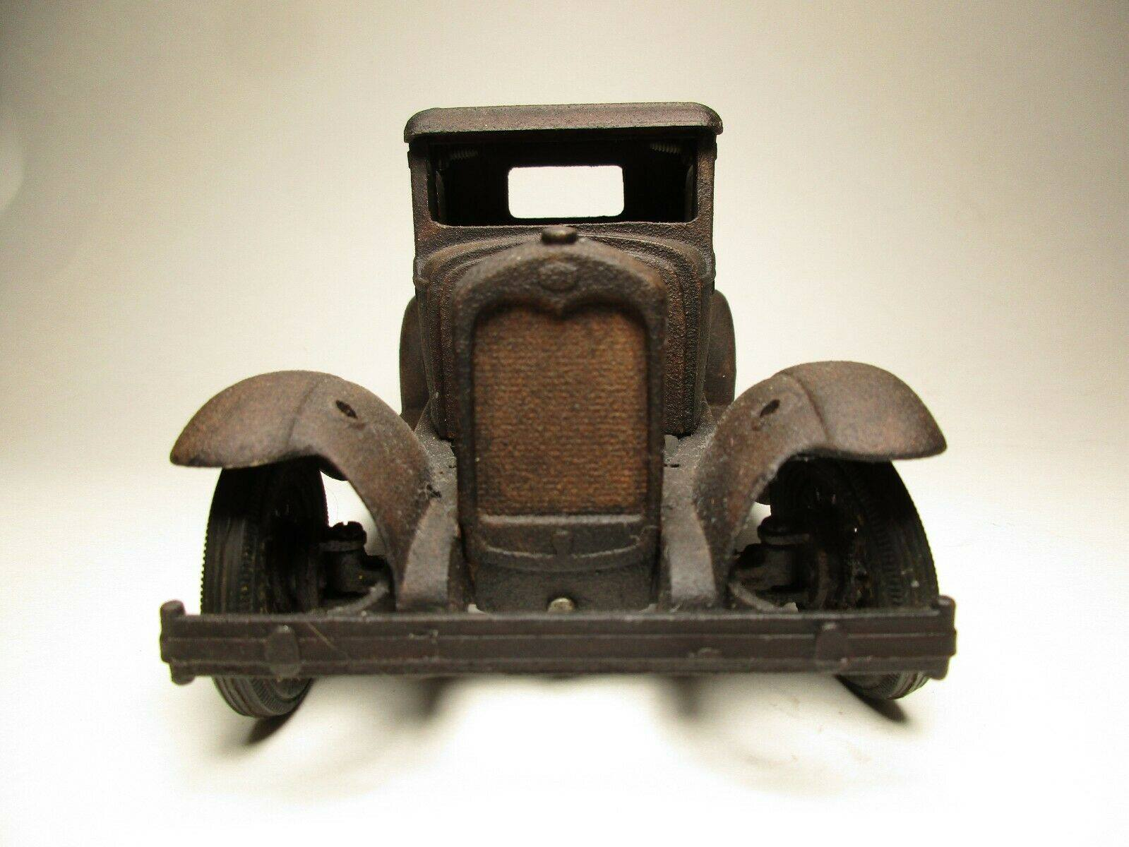 Vintage-Hubley-1932-Ford-Model-A-Coupe-and-Engine---Rusty-Weathered-Barn-Find-7