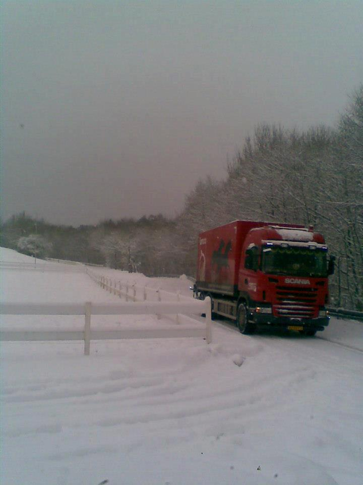 Scania-in-de-winter