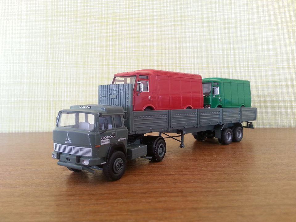 Magirus-Deutz-D-310-Trucks-op-Schaal-Habraken