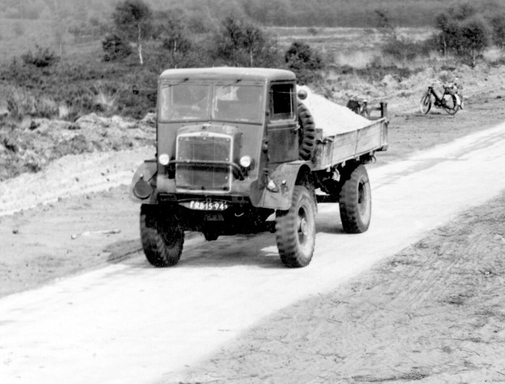 Bedford-QL-4x4-Aanleg-A12-1956