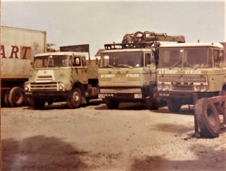 Dorts-transport-Strijen-1975-Cornelis-Kees-Dubbeldam-was-met-de-middelste