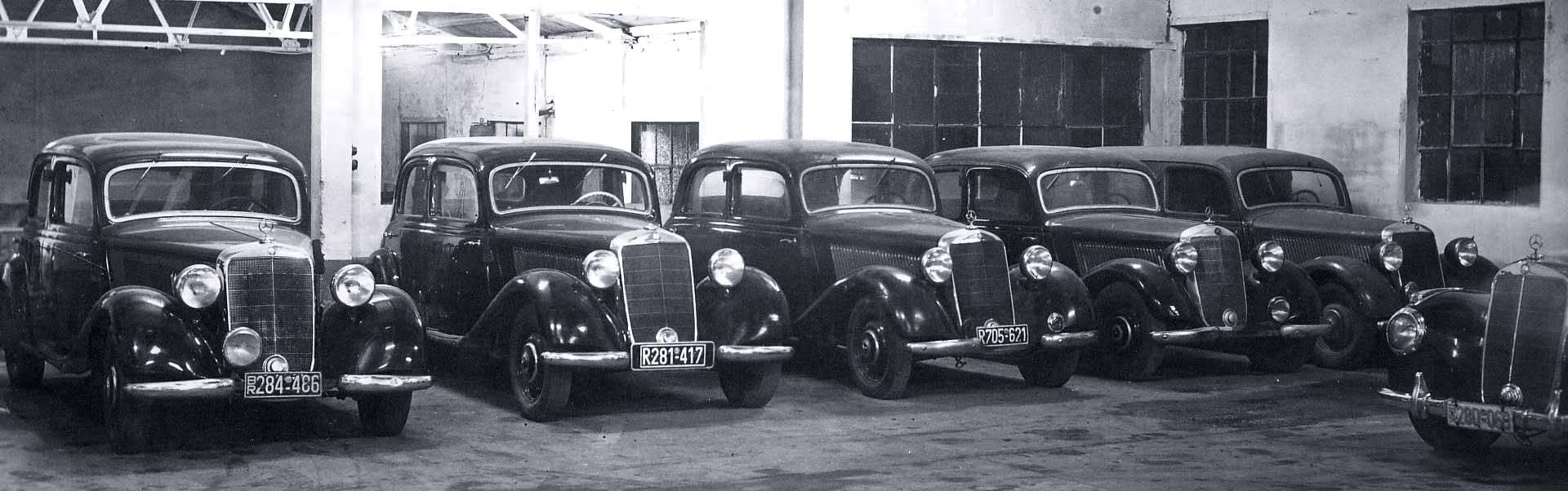 1952-Essen-Kupferdreh-Autohaus-Hans-Schulte-Oversohl-Mercedes-Benz-Typ-170-W136-und-Typ-220-W187