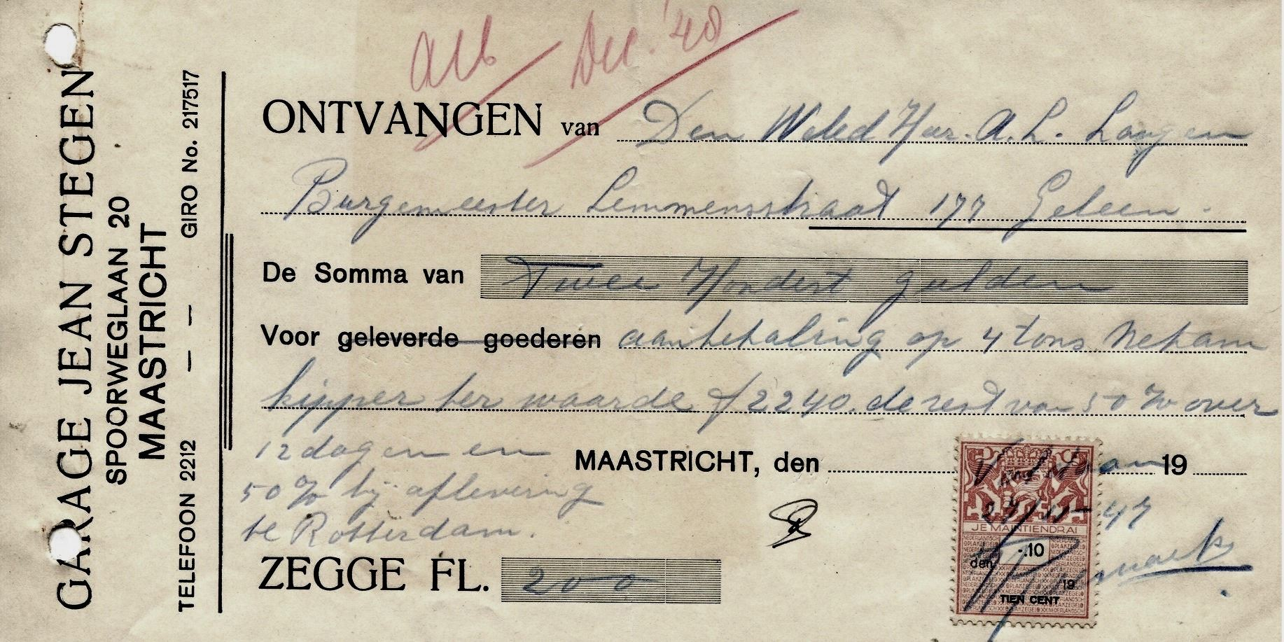 1948--aanbetaling-A-L-Langen-Geleen