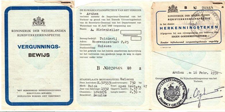 de-Buick-van-mijn-grootvader-met-mijn-vader-als-chauffeur-met-kentekenbewijs-vergunning-en-belasting-kaart-bouwjaar-1932-8-cilinders-op-een-rij-Toon-Siebenheller-2-