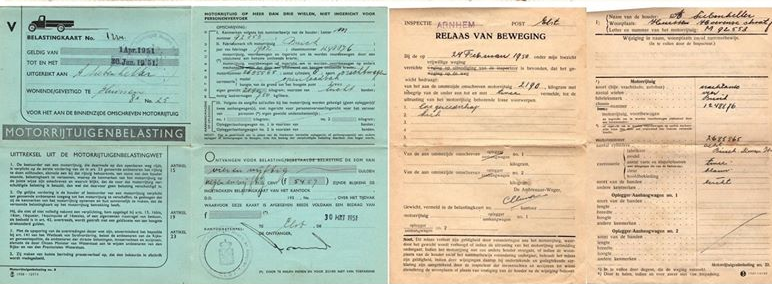 de-Buick-van-mijn-grootvader-met-mijn-vader-als-chauffeur-met-kentekenbewijs-vergunning-en-belasting-kaart-bouwjaar-1932-8-cilinders-op-een-rij-Toon-Siebenheller-3-