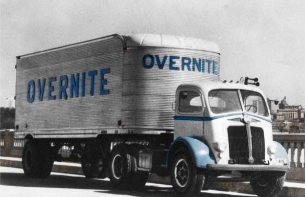 Early-Overnite-semi-White-Motor-Truck