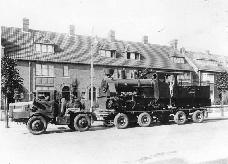 1938--Locomotieftransport--de-fa--Dotremont-op-de-Scharnerweg