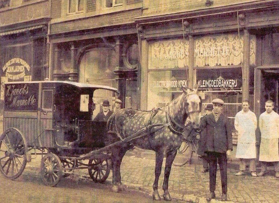 Bakker-Jacobs-Marnette-op-de-Boschstraat-in-1925-Maastricht