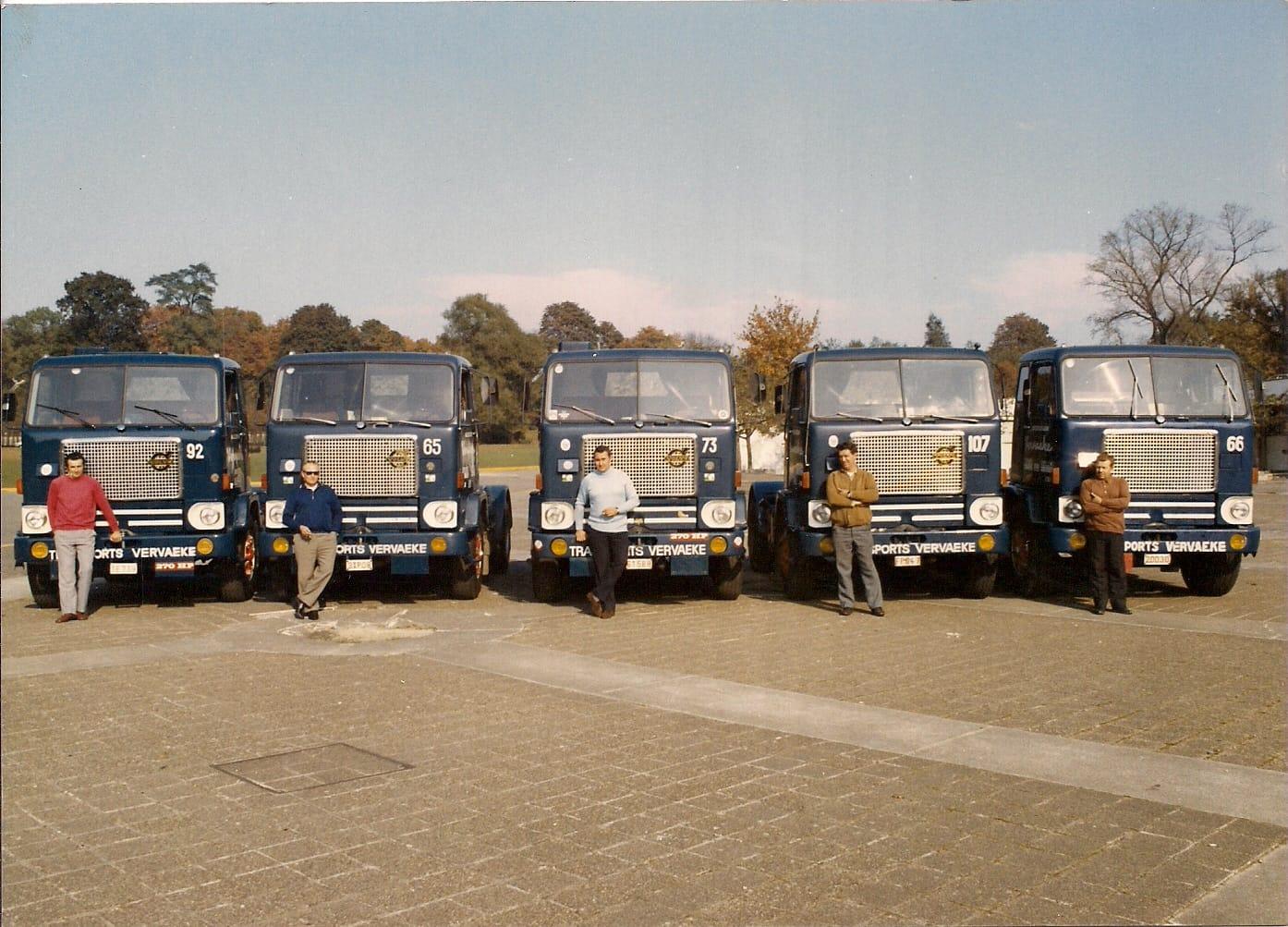 Eerste-Volvo-s-geleverd-in-de-jaren-70-bij-transport-Vervaeke