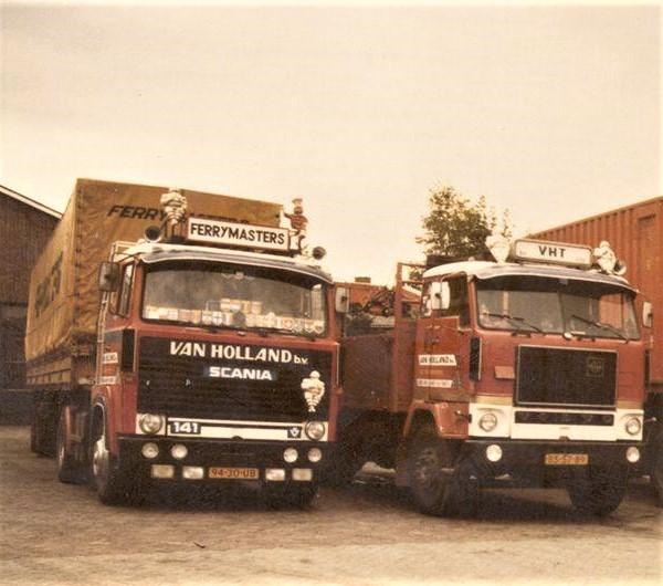 Scania-141-V8-Volvo-F-88--Mees-v-Holland-en-Jan-v-Hollande--archief-Herman-Boon