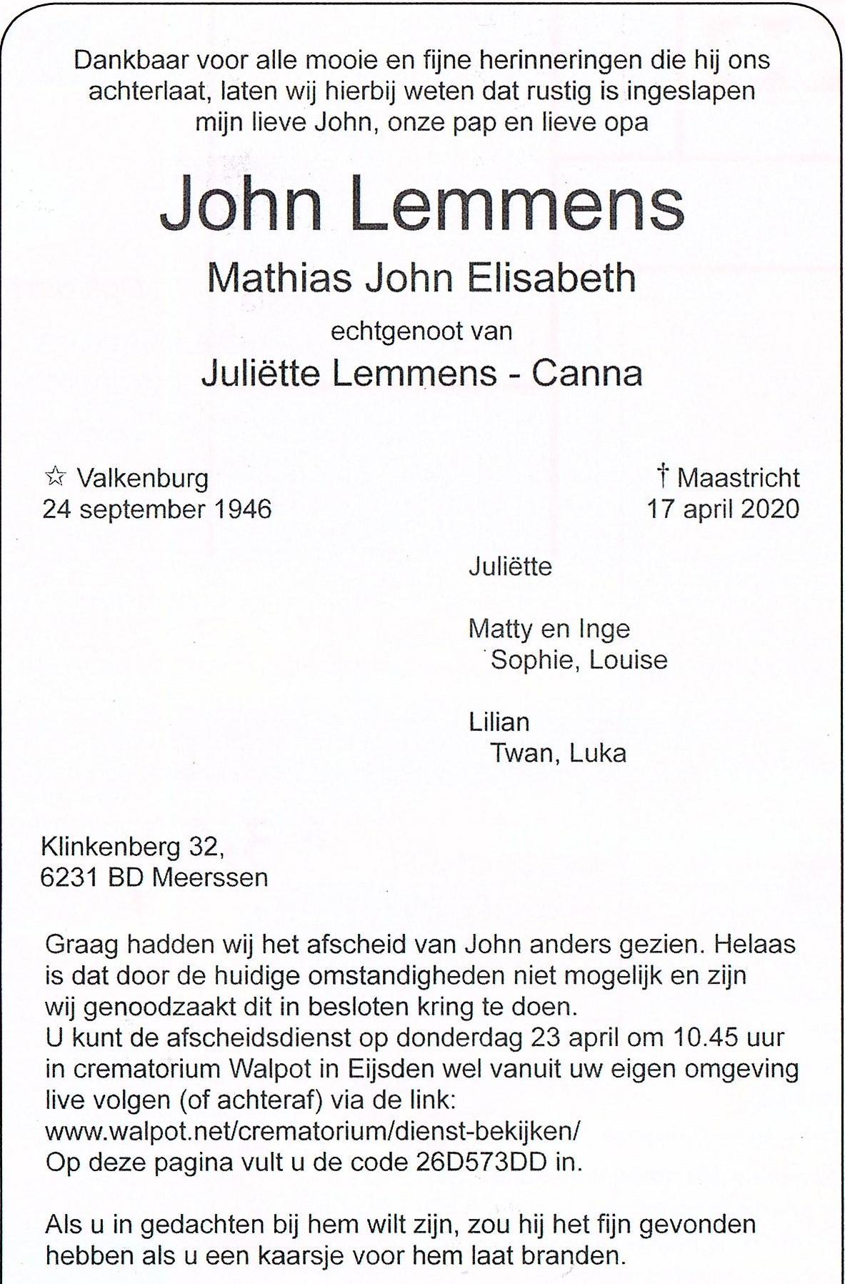 John-Lemmens-