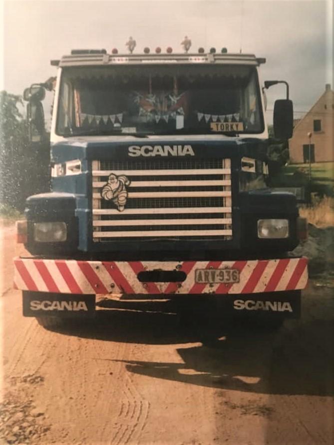Rino-Vanlokeren--Eerste-truck-bij-demets-1991--