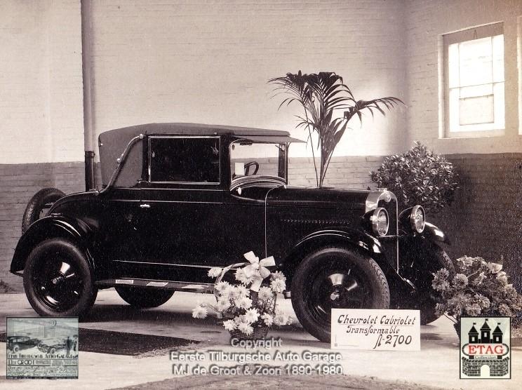 1928-Showroom-Poststraat-Tilburg-2-Chevrolet-Cabrio