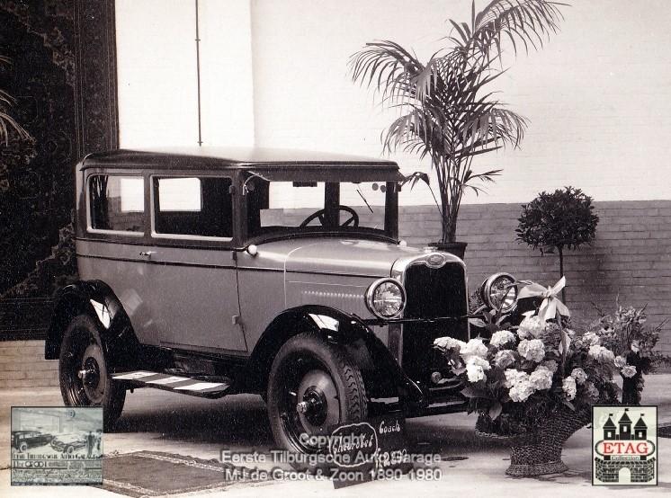 1928-Showroom-Poststraat-Tilburg-3-Chevrolet-Sedan