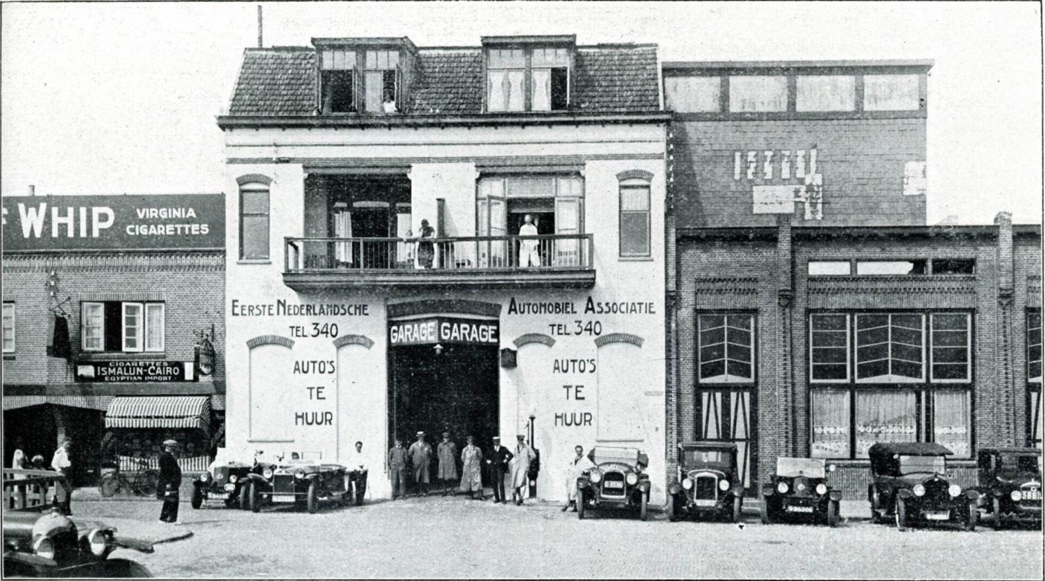 1925-Zandvoort-garage-tegen-over-station
