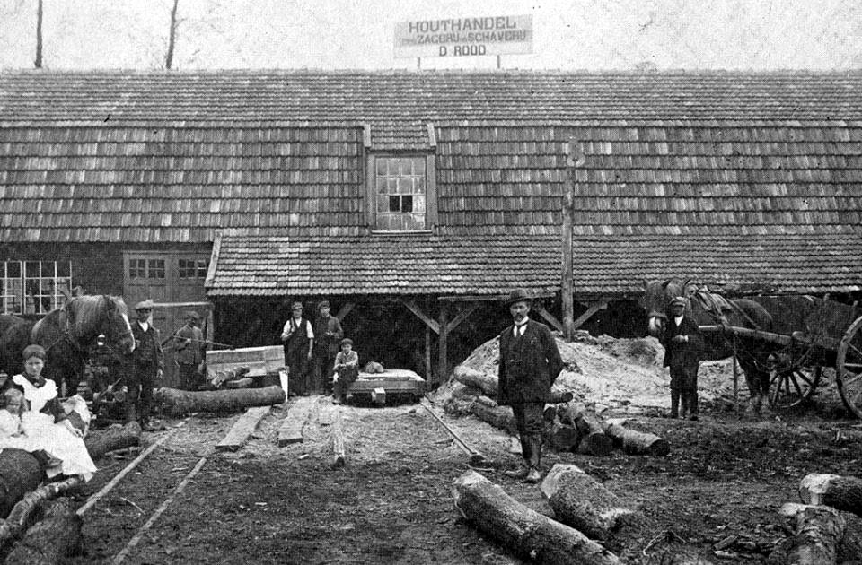 Houthandel--Rood-1918-Slangenstraat-Brunssum-