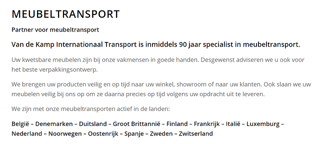 Meubeltransport-
