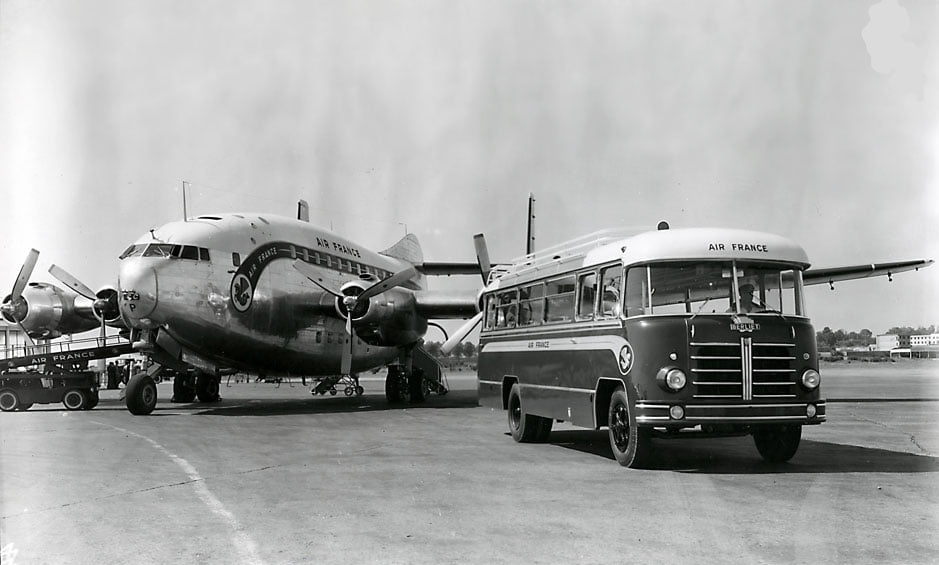Berliet-Car-PLB-1954-Air-France-Airport-Marseille