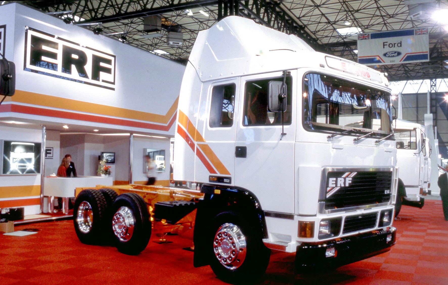 ERF-E-Series-at-the-Commercial-Vehicle-Show-in-Birmingham--1986
