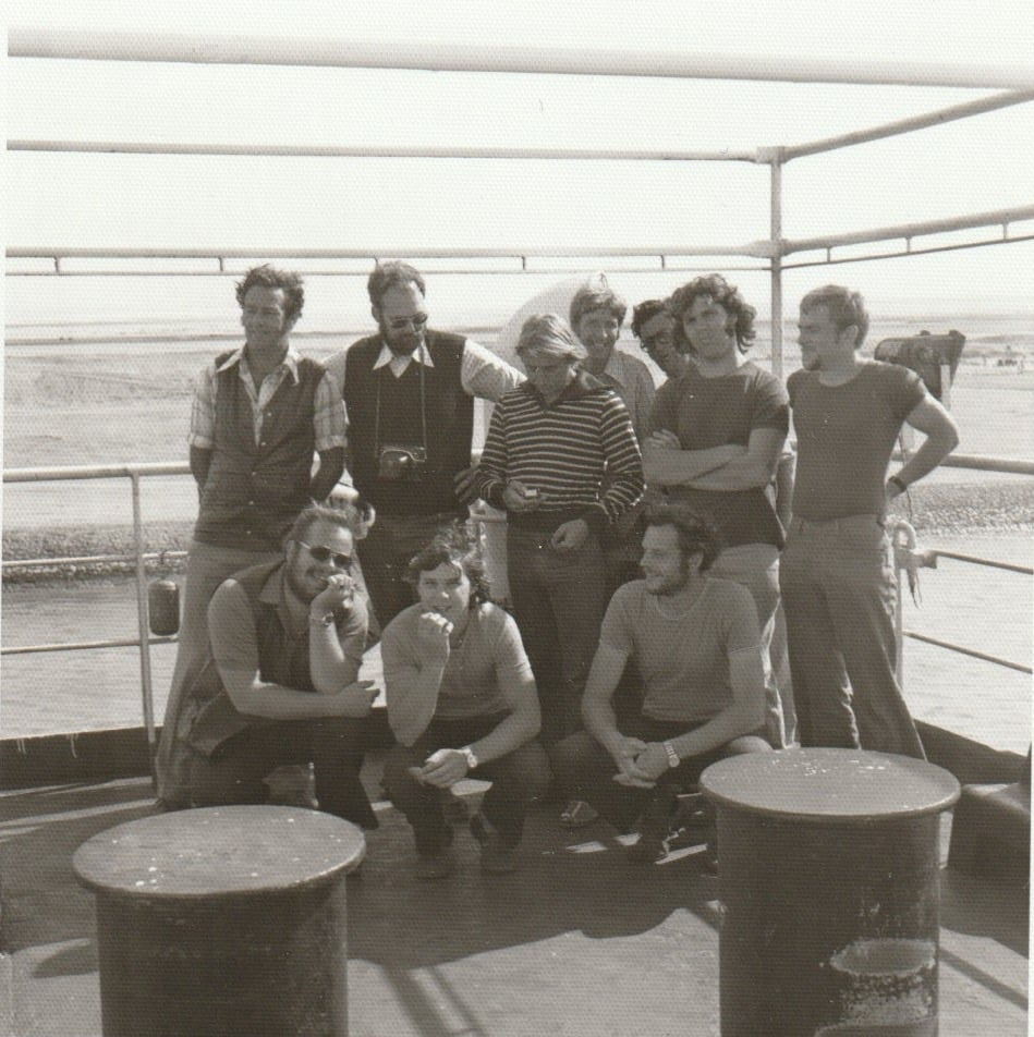 Bren-Bouree--1975-op-de-Fressia-Rossa--terugreis-van-Djeda-naar-Marseille--Met-de-mannen-van-de-Laat--Bert-Vos-en-Ko-de-Vries