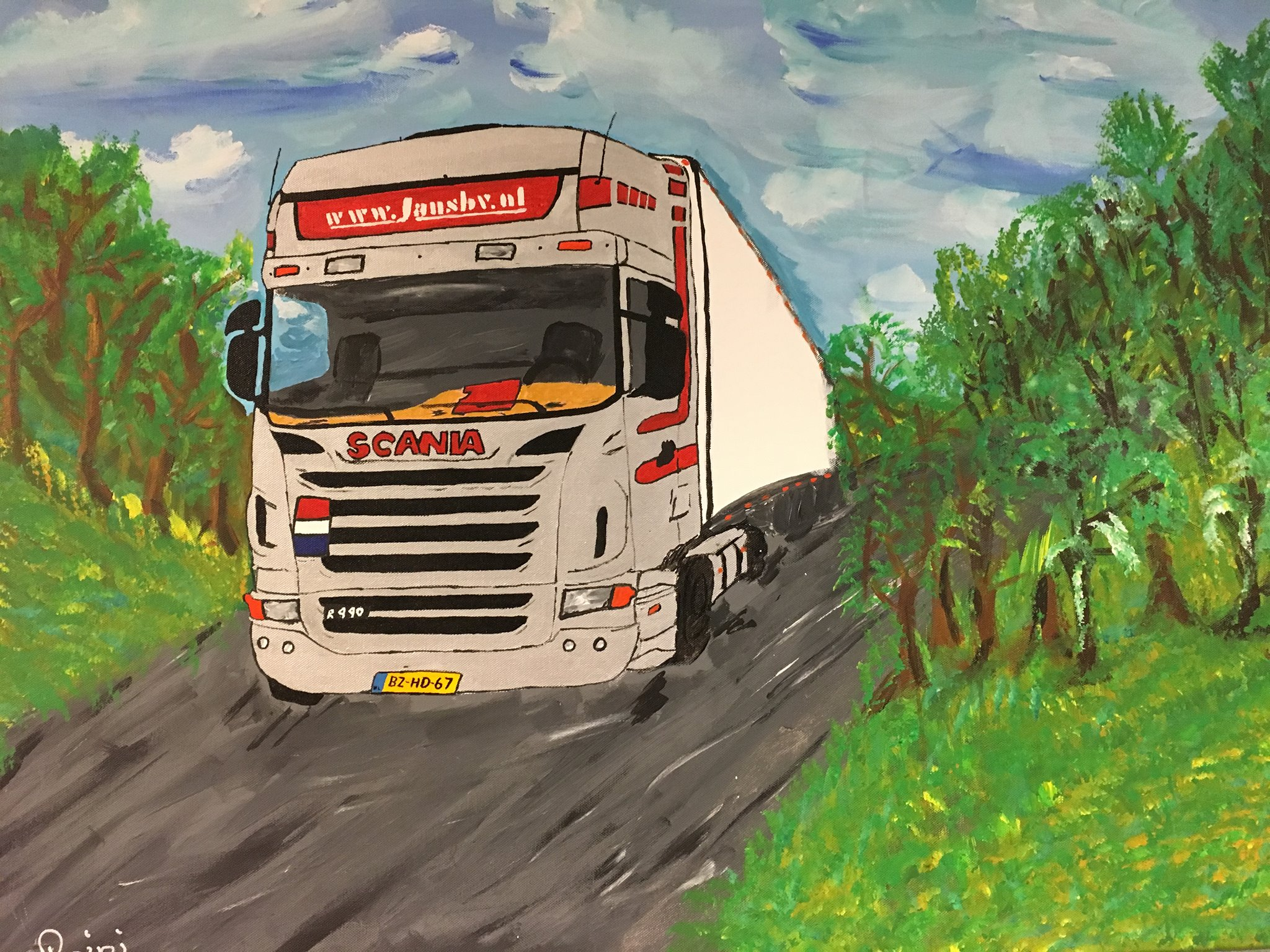 Reini-schilderde-deze-Scania