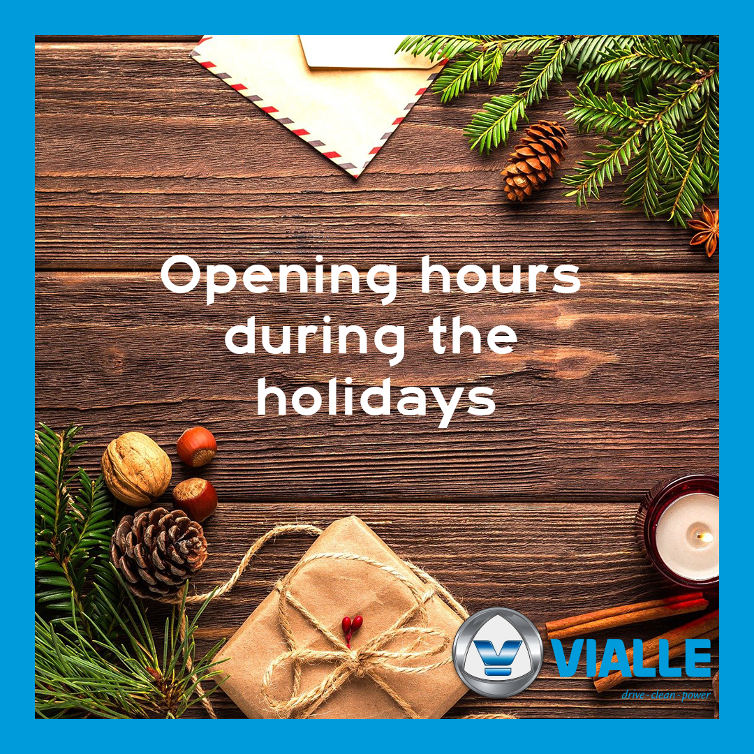 Opening hours during the holidays 2020/2021