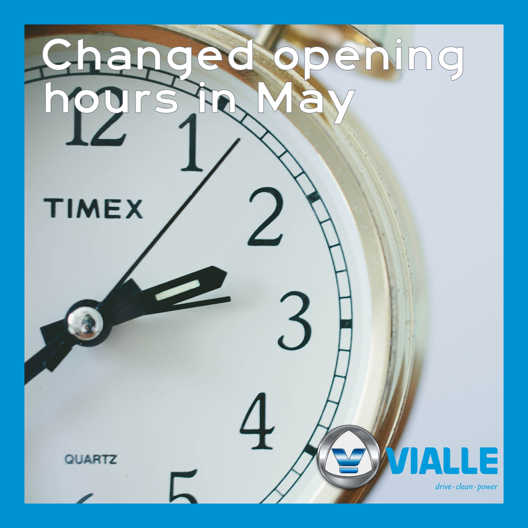 Opening hours in May 2021