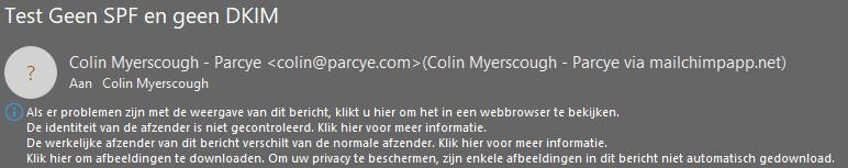 Header zonder authenticatie in Mailchimp